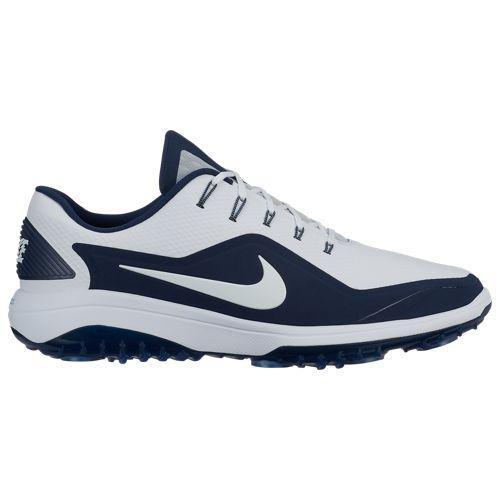 (取寄)ナイキ メンズ ゴルフシューズ リアクト ヴェイパー 2 Nike Men's React Vapor 2 Golf Shoes White Metallic White Midnight Navy