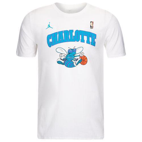 best service ee019 b5457 (order) Nike men NBA HWC dry fitting cotton T-shirt Charlotte Hornets Nike  Men s NBA HWC Dri-FIT Cotton T-Shirt Charlotte Hornets White
