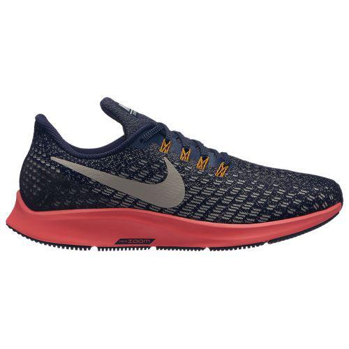 (取寄)ナイキ レディース エア ズーム ペガサス 35 Nike Women's Air Zoom Pegasus 35 Blackened Blue Moon Particle Flash Crimson Orange