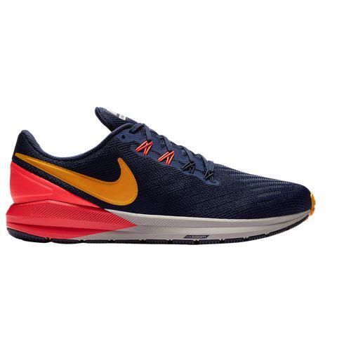 (取寄)ナイキ メンズ エア ズーム ストラクチャ 22 Nike Men's Air Zoom Structure 22 Blackened Blue Orange Peel Flash Crimson