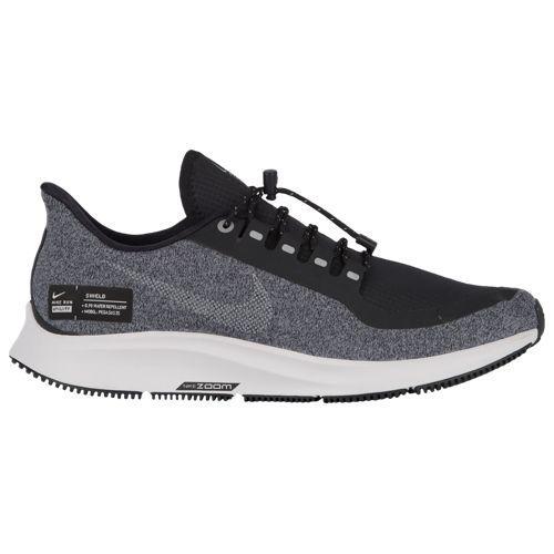 (取寄)ナイキ レディース エア ズーム ペガサス 35 シールド Nike Women's Air Zoom Pegasus 35 Shield Black Mtlc Silver Cool Grey Vast Grey White