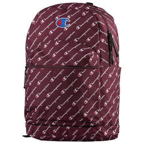 (取寄)チャンピオン メンズ スーパーサイズ ロゴ スクリプト バックパック Champion Supercize Logo Script Backpack Maroon