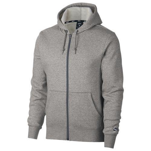 (取寄)ナイキ メンズ エスビー アイコン フル ジップ フーディ Nike Men's SB Icon Full Zip Hoodie Dk Grey Heather Black