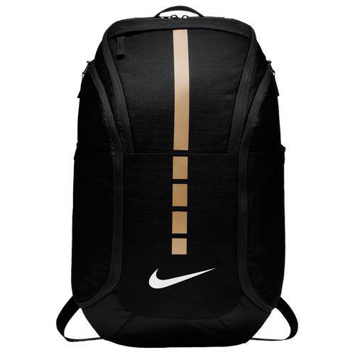 (取寄)ナイキ メンズ フープ エリート プロ バックパック Nike Hoops Elite Pro Backpack Black Metallic Gold White
