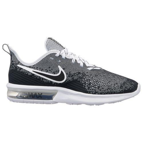 (取寄)ナイキ レディース エア マックス シークエント 4 Nike Women's Air Max Sequent 4 Black Black White White
