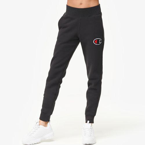 (取寄)チャンピオン レディース シュニール ロゴ ジョガー Champion Women's Chenille Logo Jogger Black