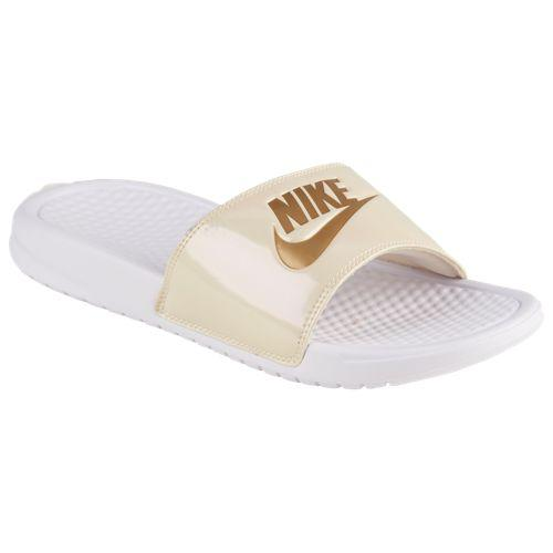 586632aaf6c8 JETRAG Rakuten Ichiba Shop  (order) ナイキレディースベナッシ JDI slide Nike Women s  Benassi JDI Slide White Metallic Gold Beach