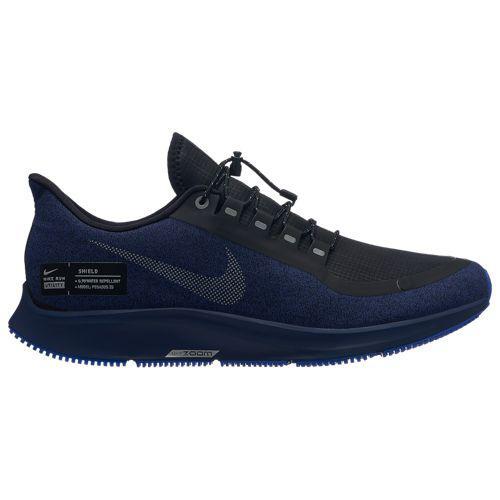(取寄)ナイキ メンズ エア ズーム ペガサス 35 シールド Nike Men's Air Zoom Pegasus 35 Shield Black Metallic Silver Blue Void Racer Blue