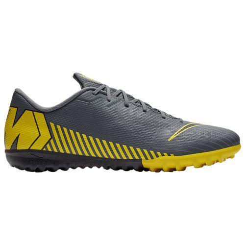 (取寄)ナイキ メンズ マーキュリアル ヴェイパー X 12 アカデミー tr Nike Men's Mercurial VaporX 12 Academy TF Dark Grey Black Optic Yellow
