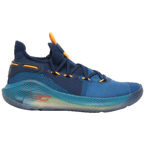 (取寄)アンダーアーマー メンズ カリー 6 ステファン カリー Underarmour Men's Curry 6 Stephen Curry Petrol Blue Mango Orange Academy