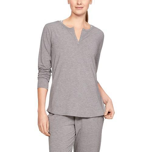 (取寄)アンダーアーマー レディース リカバリー スリープウェア ロング スリーブ Underarmour Women's Recovery Sleepwear Long Sleeve Grey Fade Heather