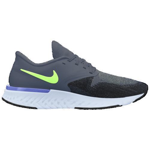 (取寄)ナイキ メンズ オデッセイ リアクト 2 フライニット Nike Men's Odyssey React 2 Flyknit Hydrogen Blue Sapphire Black Half Blue Lime Blast