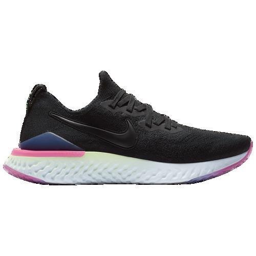 (取寄)ナイキ メンズ エピック リアクト フライニット 2 Nike Men's Epic React Flyknit 2 Black Black Sapphire Lime Blast Hyper Pink