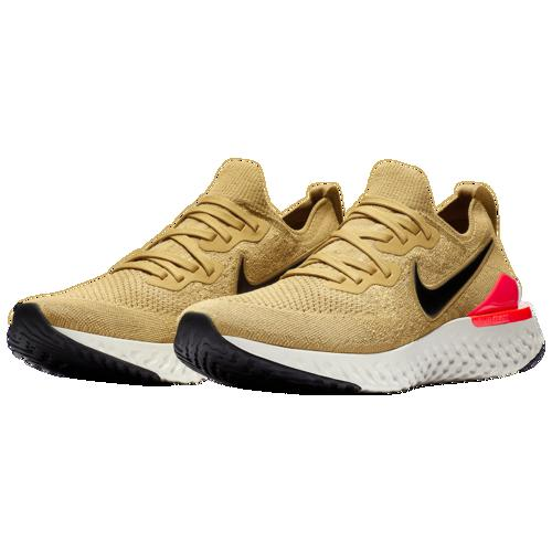 outlet store 956a7 a3c24 (order) Nike men epic re-act fly knit 2 Nike Men s Epic React Flyknit 2  Club Gold Metallic Gold Black Red Orbit