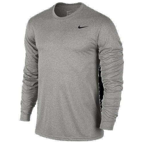 (取寄)ナイキ メンズ レジェンド 2.0 ロング スリーブ Tシャツ Nike Men's Legend 2.0 Long Sleeve T-Shirt Dark Grey Heather Black