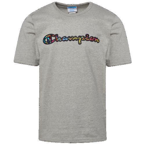 Champion チャンピオン Tシャツ タンクトップ ファッション ブランド クーポンで最大2000円OFF 取寄 メンズ グラフィック NEW Grey Sleeve T-Shirt Multi Graphic Men's メーカー再生品 ショート Short スリーブ