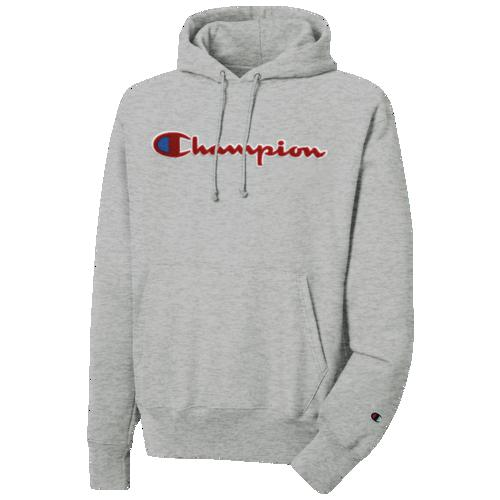 (取寄)チャンピオン メンズ リバース ウィーブ シュニール プルオーバー フーディ Champion Men's Reverse Weave Chenille P/O Hoodie Oxford Grey