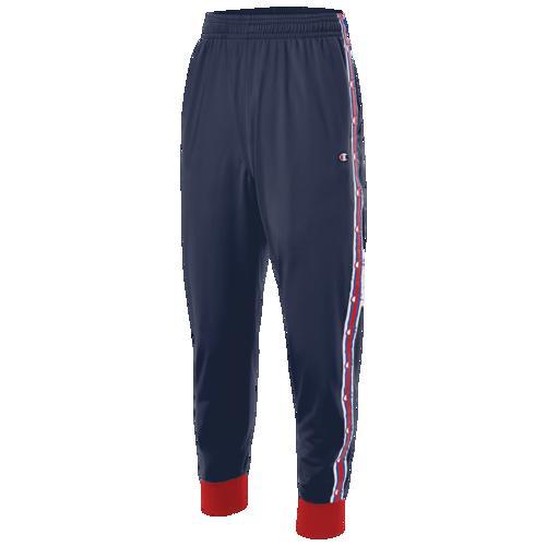 (取寄)チャンピオン メンズ テープド トラック パンツ Champion Men's Taped Track Pants Imperial Indigo Scarlet