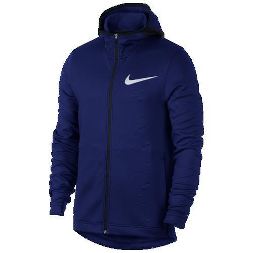 (取寄)ナイキ メンズ パーカー サーマフレックス ショータイム F/Z フーディ Nike Men's Thermaflex Showtime F/Z Hoodie Blue Void Black
