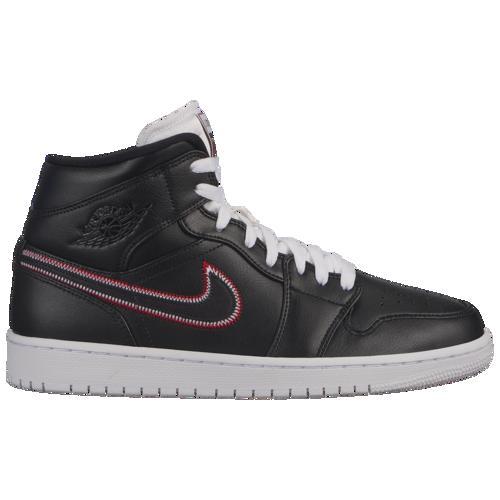 【クーポンで最大2000円OFF】(取寄)ジョーダン メンズ AJ 1 ミッド SE Jordan Men's AJ 1 Mid SE Black Black White Gym Red