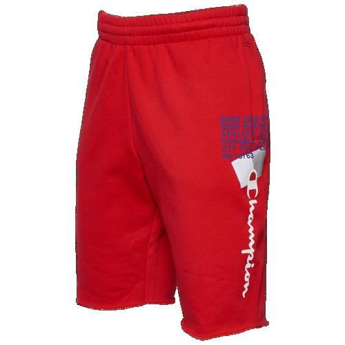 (取寄)チャンピオン メンズ スーパー フリース 2.0 BTL ショーツ Champion Men's Super Fleece 2.0 BTL Shorts Scarlet