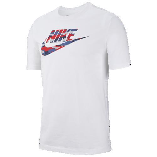 (取寄)ナイキ メンズ カモ フィル ロゴ Tシャツ Nike Men's Camo Fill Logo T-Shirt White Wolf Grey