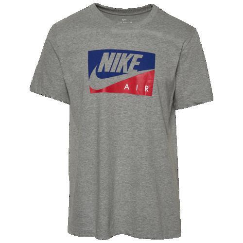(取寄)ナイキ メンズ ボックスド エア Tシャツ Nike Men's Boxed Air T-Shirt Dark Grey Heather Blue Red