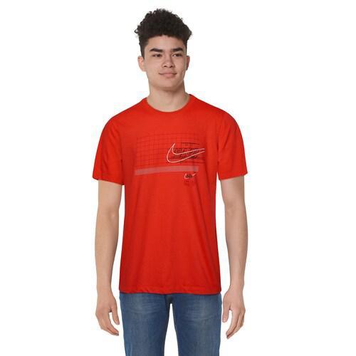 (取寄)ナイキ メンズ ストーリー オブ ザ スウッシュ 2 Tシャツ Nike Men's Story Of The Swoosh 2 T-Shirt Habanero Red Red Black