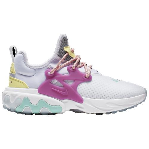 (取寄)ナイキ レディース リアクト プレスト Nike Women's React Presto White Hyper Violet Green Coral