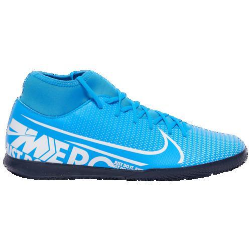 (取寄)ナイキ メンズ マーキュリアル スーパーフライ 7 クラブ ic Nike Men's Mercurial Superfly 7 Club IC Blue Hero White Obsidian