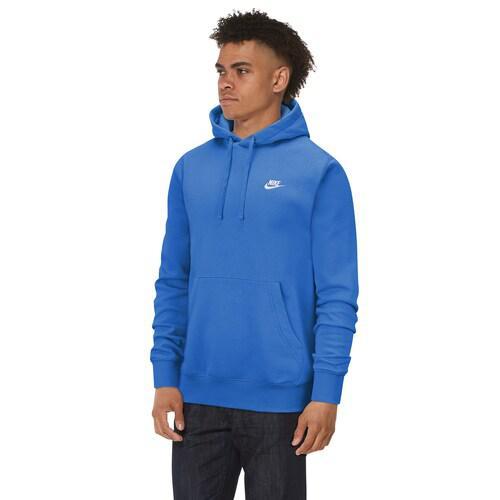 (取寄)ナイキ メンズ パーカー クラブ プルオーバー フーディ Nike Men's Club Pullover Hoodie Light Photo Blue White