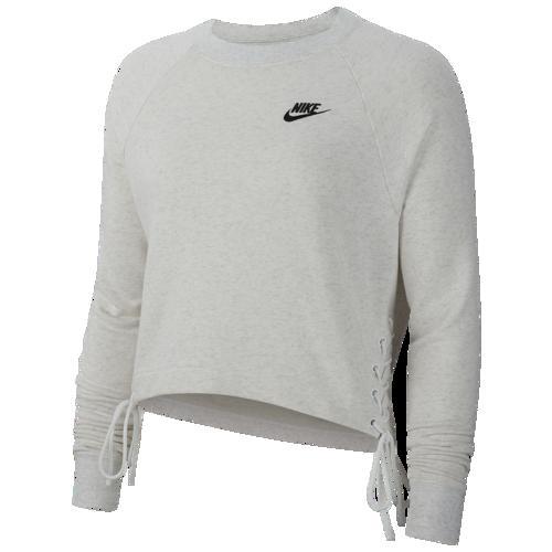 (取寄)ナイキ レディース エッセンシャル タイ フリース クルー Nike Women's Essential Tie Fleece Crew Birch Heather Black