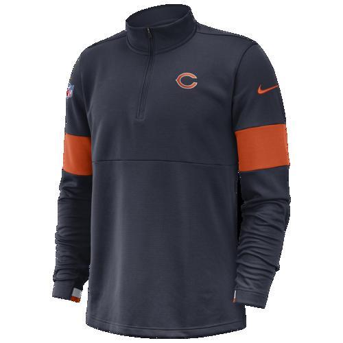 (取寄)ナイキ メンズ NFL サーマ 1/2 ジップ プルオーバー ジャケット シカゴ ベアーズ Nike Men's NFL Therma 1/2 Zip Pullover Jacket シカゴ ベアーズ Marine