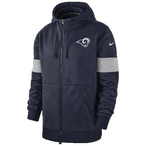 (取寄)ナイキ メンズ パーカー NFL サーマ フルジップ フーディ ロス エンジェルス ラムズ Nike Men's NFL Therma Full-Zip Hoodie ロス エンジェルス ラムズ College Navy