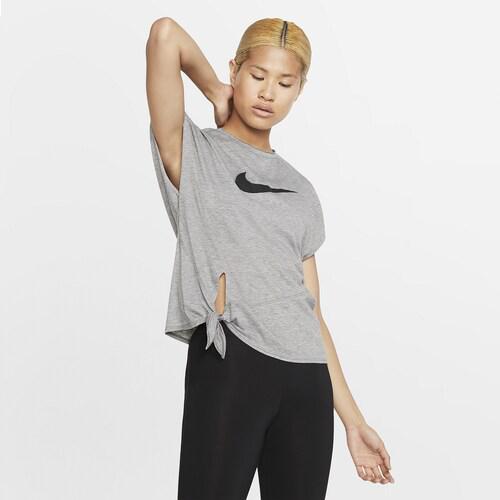 (取寄)ナイキ レディース サイド タイ ショートスリーブ Tシャツ Nike Women's Side Tie S/S T-Shirt Carbon Heather