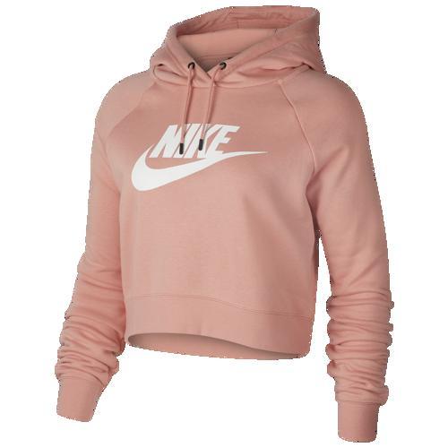 (取寄)ナイキ レディース パーカー エッセンシャル クロップ フーディ Nike Women's Essential Crop Hoodie Pink Quartz White