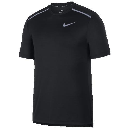 (取寄)ナイキ メンズ ドライ ミラー ショート スリーブ トップ Nike Men's Dry Miler Short Sleeve Top Black Black Reflective Silver
