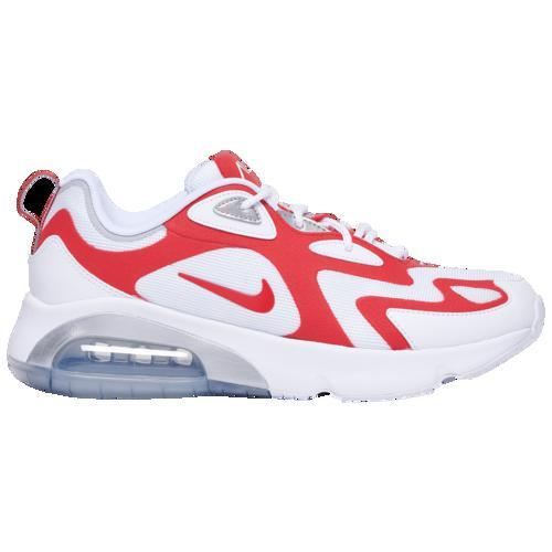 (取寄)ナイキ メンズ エア マックス 200 Nike Men's Air Max 200 White University Red Metallic Silver
