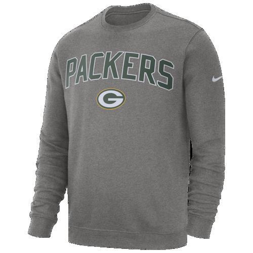 (取寄)ナイキ メンズ トレーナー NFL クラブ フリース クルー プルオーバー グリーン ベイ パッカーズ Nike Men's NFL Club Fleece Crew Pullover グリーン ベイ パッカーズ Dark Grey Heather