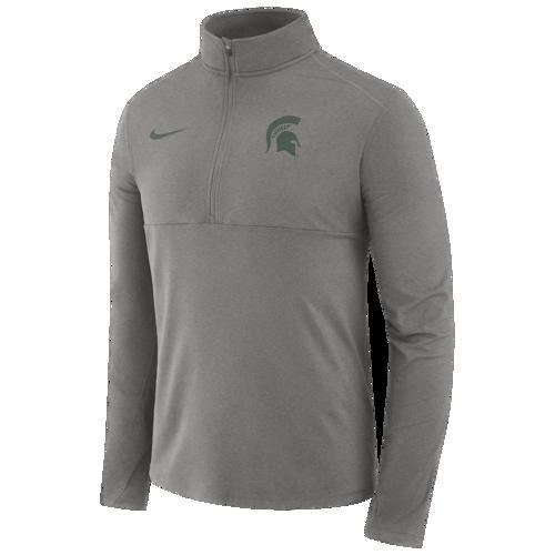 (取寄)ナイキ メンズ カレッジ コア 1/2 ジップ プルオーバー ジャケット ミシガン ステイト スパルタンズ Nike Men's College Core 1/2 Zip Pullover Jacket ミシガン ステイト スパルタンズ Dark Grey Heather