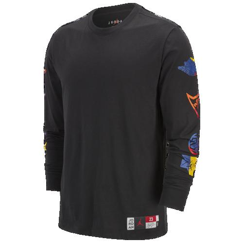 (取寄)ジョーダン メンズ スポーツ DNA HBR ロング スリーブ クルー Tシャツ Jordan Men's Sport DNA HBR Long Sleeve Crew T-Shirt Black