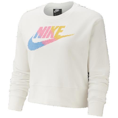【クーポンで最大2000円OFF】(取寄)ナイキ レディース フューチュラ フェム フリース クルー Nike Women's Futura Femme Fleece Crew Phantom