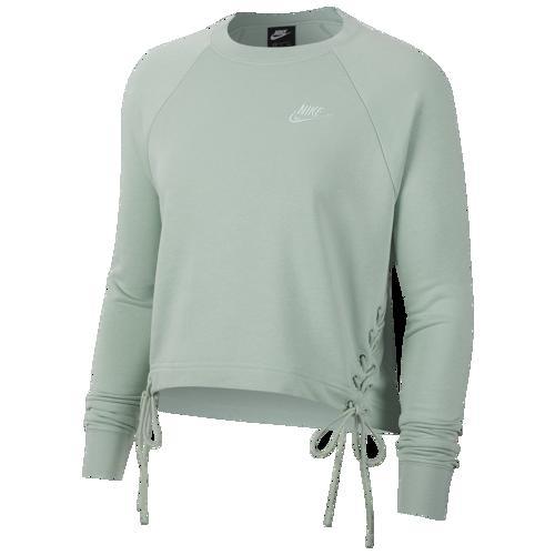 (取寄)ナイキ レディース エッセンシャル タイ フリース クルー Nike Women's Essential Tie Fleece Crew Pistachio Frost White