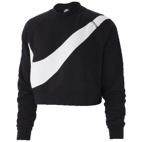 (取寄)ナイキ レディース スウッシュ フリース クルー Nike Women's Swoosh Fleece Crew Black White