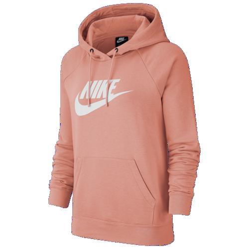【エントリーでポイント5倍】(取寄)ナイキ レディース パーカー エッセンシャル プルオーバー フリース フーディ Nike Women's Essential Pullover Fleece Hoodie Pink Quartz White