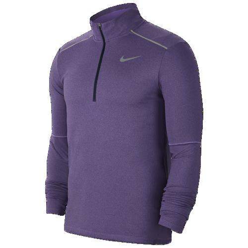 (取寄)ナイキ メンズ エレメント 1/2 ジップ トップ 3.0 Nike Men's Element 1/2 Zip Top 3.0 Obsidian Heather Bright Violet Reflective Silver