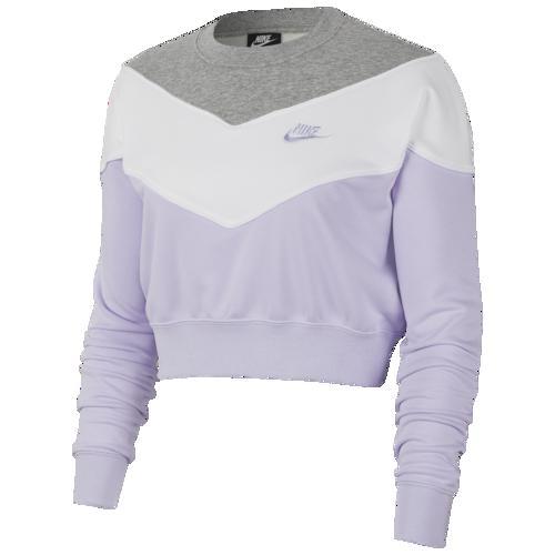 (取寄)ナイキ レディース ヘリテージ クルー Nike Women's Heritage Crew Lavender Mist Dark Grey Heather White