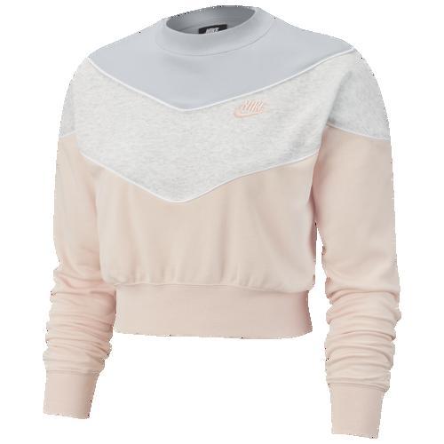 【クーポンで最大2000円OFF】(取寄)ナイキ レディース ヘリテージ クルー Nike Women's Heritage Crew Echo Pink Pure Platinum Birch Heather