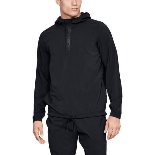 (取寄)アンダーアーマー メンズ ベースライン ウーブン ジャケット Underarmour Men's Baseline Woven Jacket Black Wire
