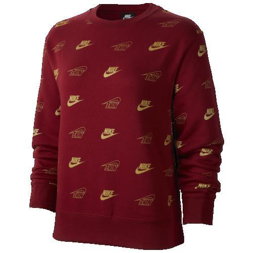 【クーポンで最大2000円OFF】(取寄)ナイキ レディース グラム ダンク AOP フリース クルー Nike Women's Glam Dunk AOP Fleece Crew Team Red Team Red